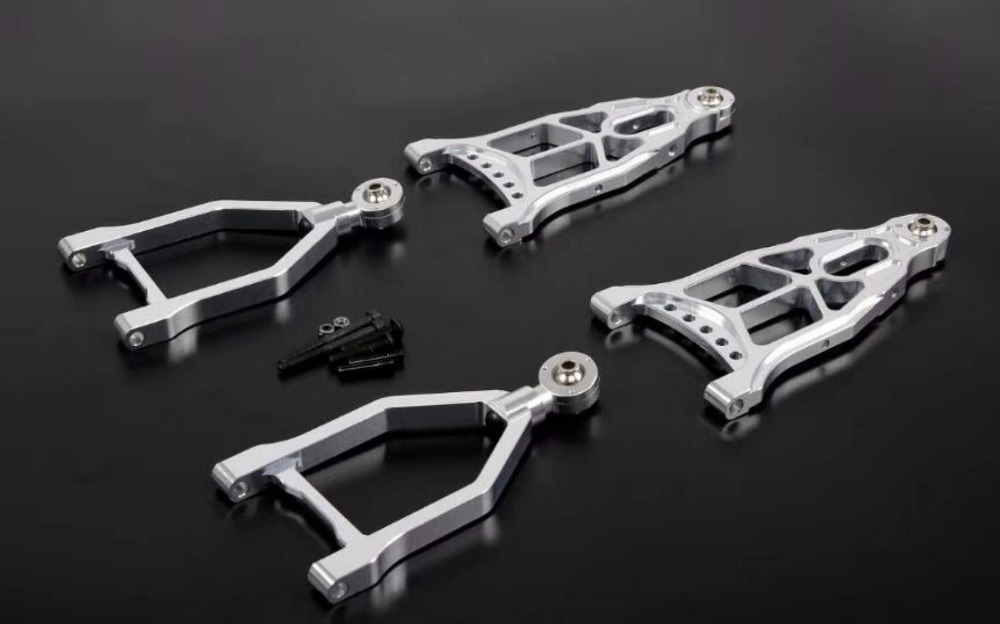 1/5 gas rc baja spare parts Baja CNC alloy front extended A arm set 853391/5 gas rc baja spare parts Baja CNC alloy front extended A arm set 85339