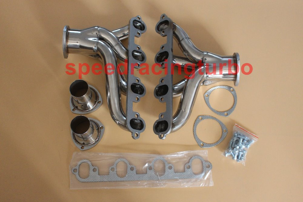 Colector de escape para FIT Ford Block Huggers Big Block 429 460 FIT V8 acero inoxidable
