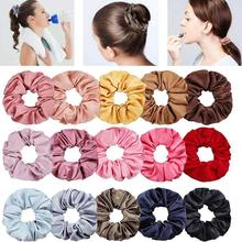 Ladys Hair Velvet Elastic Ring Bands Scrunchies Pure Color Bobble Sports Soft Lovely Scrunchie Tie Rope for Hairdress