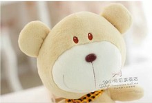 lovely Teddy bear toy hug bear doll with scraf Unlucky bear toy about 40cm beige