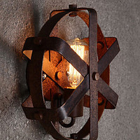 Industrial lamps Loft Retro vintage style wall sconce Wall Sconce Household Interior Lighting Outdoor Metal Oxide screen