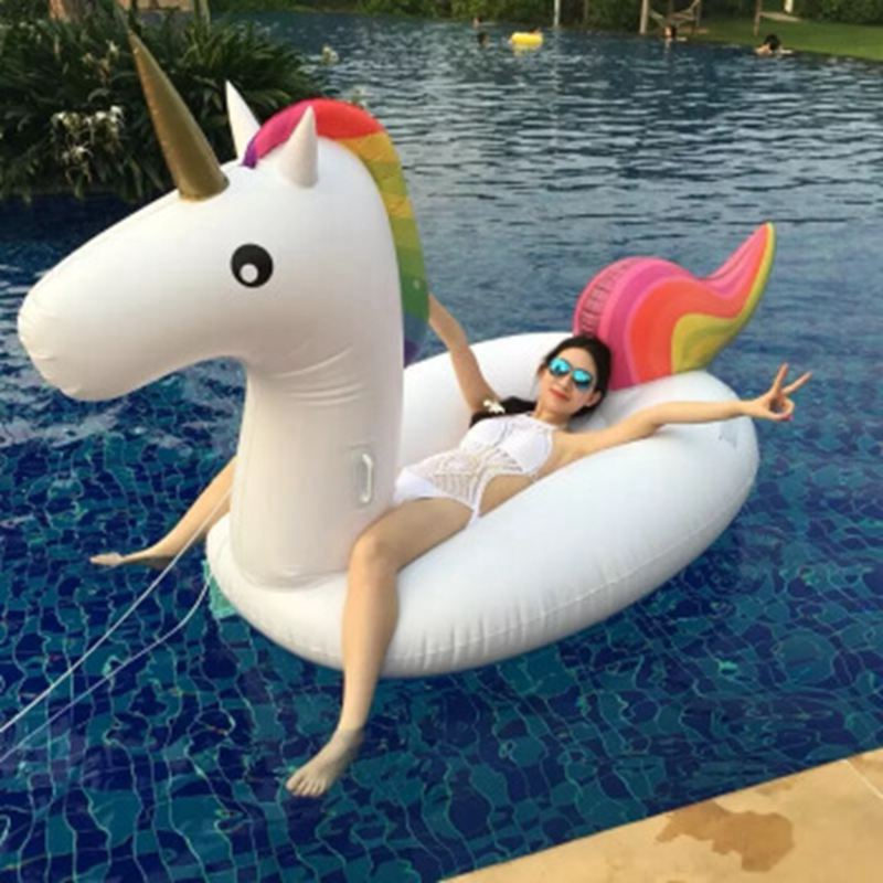 Giant Unicorn Floats Swimming Ring Unicorn Inflatable Pool Float Toys For Adult Unicorn Swimming Rings For Women Swim Accessary unicorn