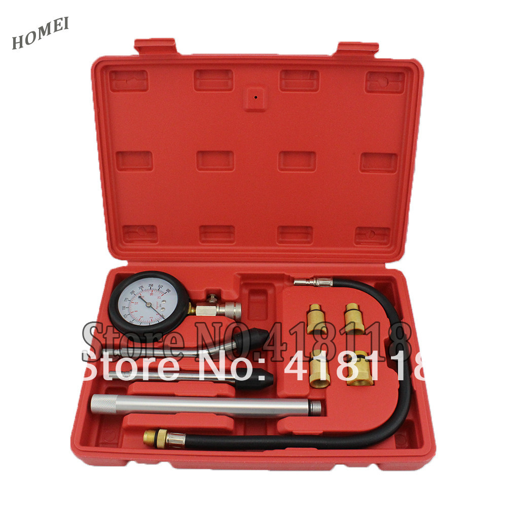 Professional Diagnostic Tool of New Rapid Type Cylinder Pressure Gauge Compression Tester Kit Taiwan Tools