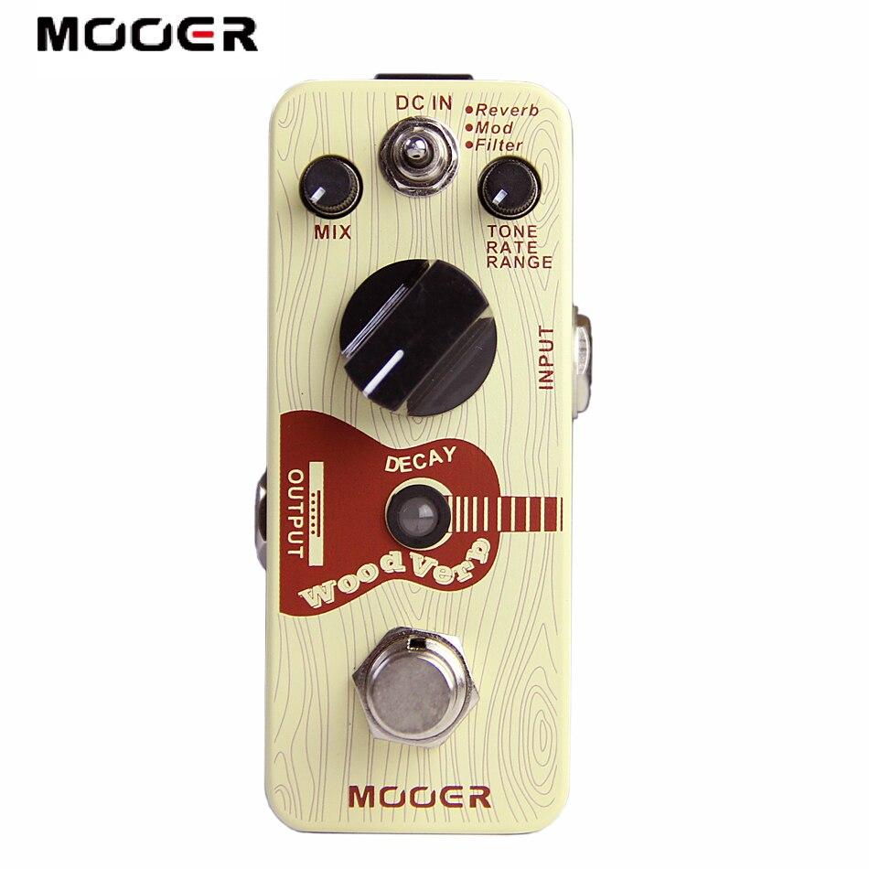 Mooer WoodVerb Effets Pédale/Acoustique Guitare Reverb Effets/Guitare Effecteurs NOUVEAUTÉS
