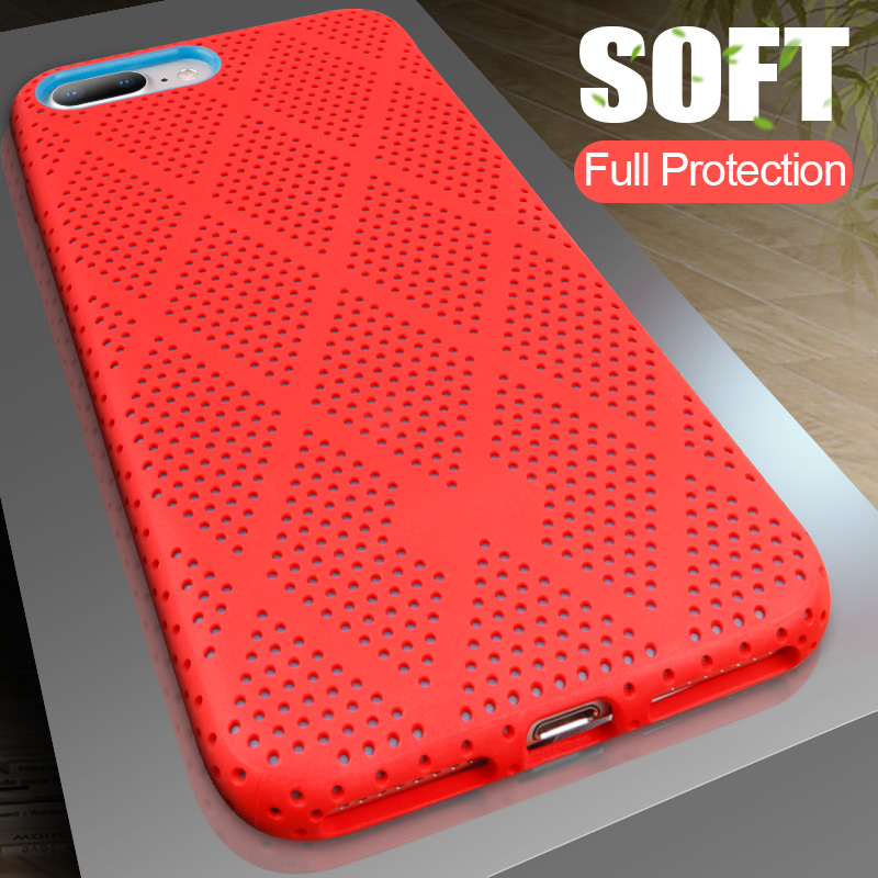 H&A Luxury Heat Dissipation Cover Case For iPhone 7 Plus Soft Silicone Case For iPhone 7 Full Protection Silicon Case-in Half-wrapped Cases from Cellphones & Telecommunications