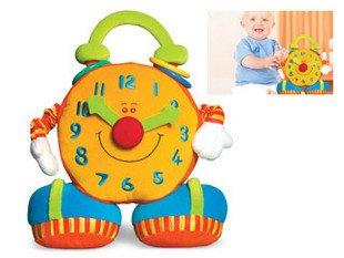Игрушек! Горячая Распродажа, супер милая детская развивающая мягкая игрушка, красочные улыбающиеся Часы Биг-Бен, игрушка для раннего обучения, подарок 1 шт