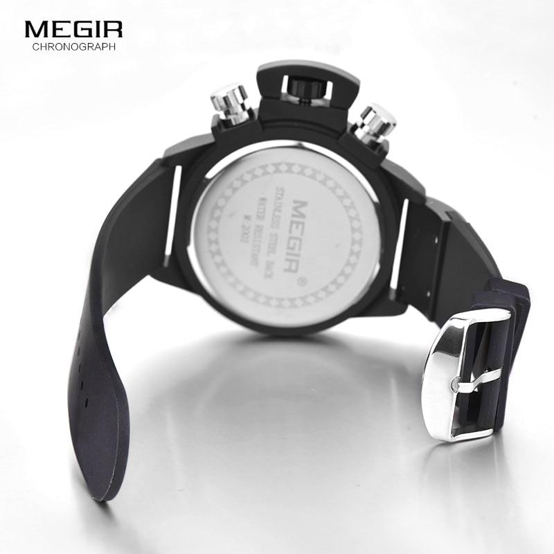 Megir Fashion Mens Silicone Band Sportowe zegarki kwarcowe Zegarek - Męskie zegarki - Zdjęcie 6