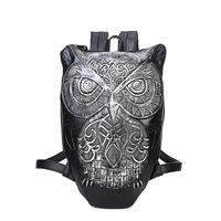 2016 New Fashion Casual Backpacks Owls Personalized Creative Men And Women Shoulder Oblique Korean Version Of