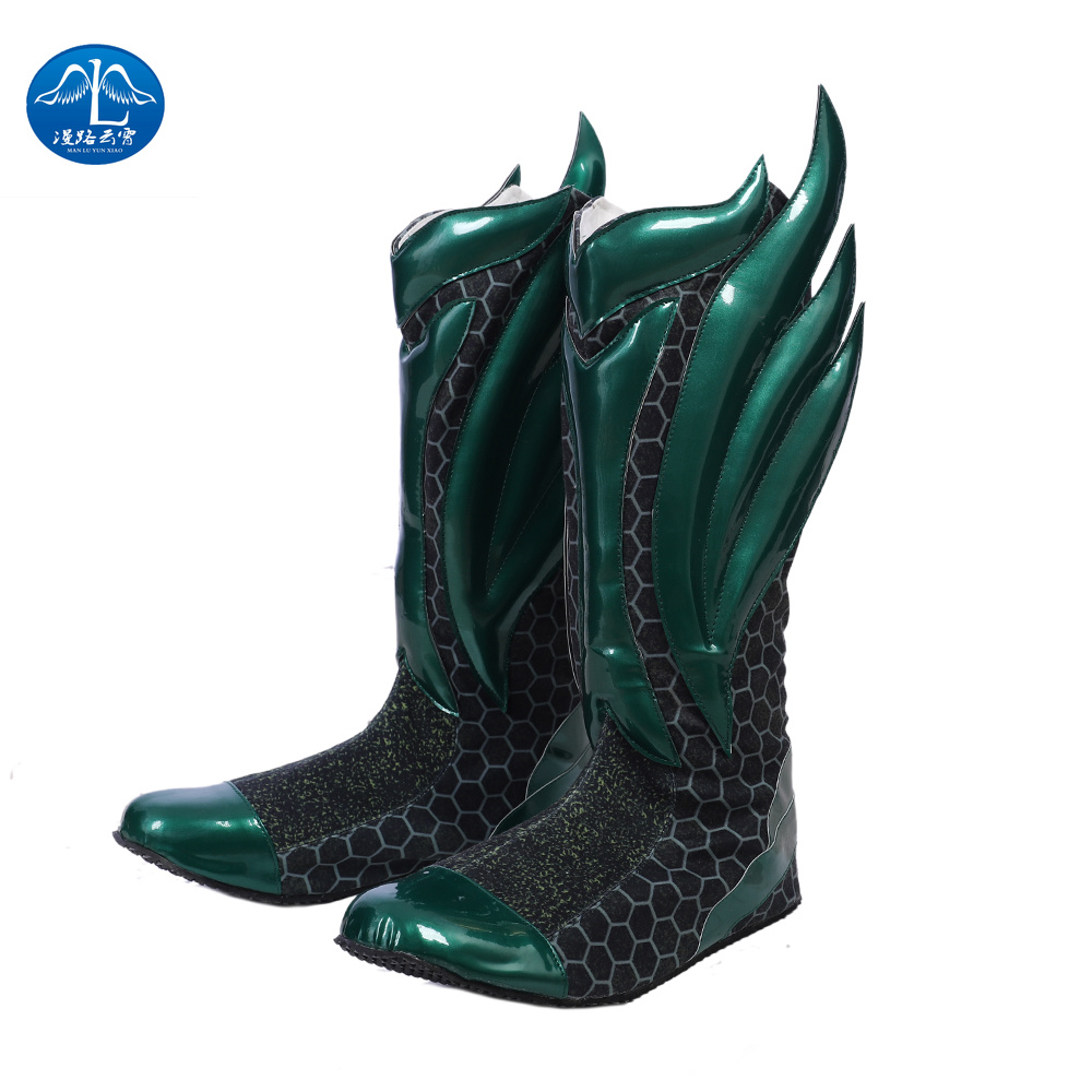 MANLUYUNXIAO Justice League Arthur Curry Aquaman Cosplay Costume Halloween Anime Hunter Boots