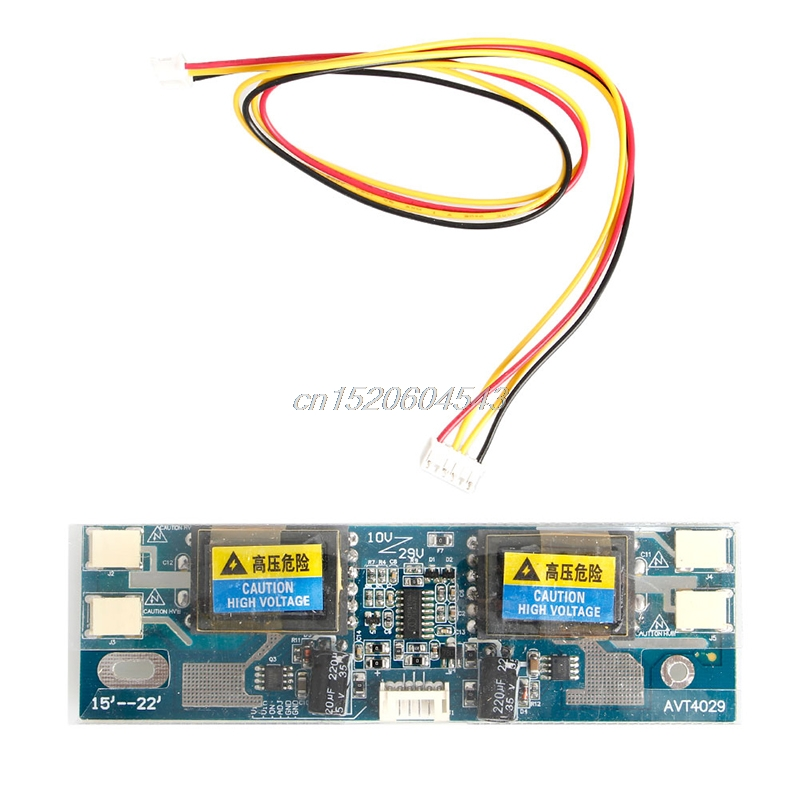 Universal CCFL Inverter LCD Monitor 4 Lamp 10-30V for Laptop 15-22 Widescreen R07 Drop ship 4 lamp ccfl inverter board for lcd screen page 8