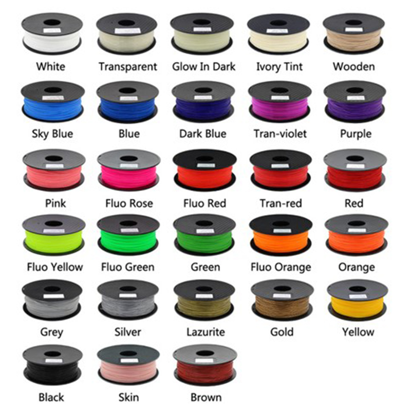 Anet 3D Printer Filament PLA 1 75mm 1kg Plastic Rubber Consumables Material 28 Kinds Of Filament Colors for You Choose in 3D Printing Materials from Computer Office