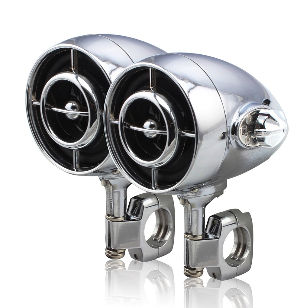 Harley Moto Lourde Étanche Audio Stéréo Amplificateur Haut-parleurs Salut-fi Sound MP3/WMA Bluetooth USB/AUX