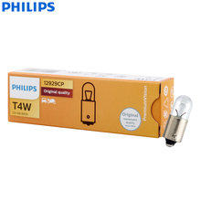 Philips Vision T4W 12929CP BA9s PG13 4W Standard Original Reading Lamps Number Plate Light Position Light Wholesale 10pcs(China)