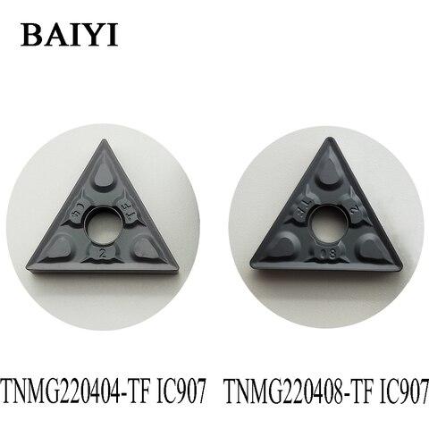 Cortador de Carboneto de Inserção Ferramenta de Tornear Tnmg 431 432 Externo 10 Pcs Tnmg220404 tf Ic907