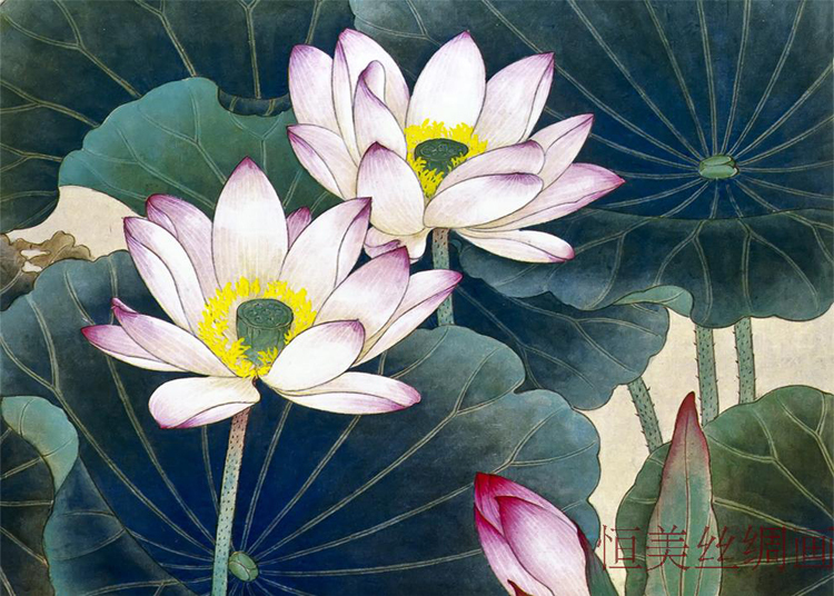 100 high quality chinese art painting lotus flowermandarin duck 100 high quality chinese art painting lotus flowermandarin duck wall art picture home decoration hanging silk scroll in painting calligraphy from home mightylinksfo