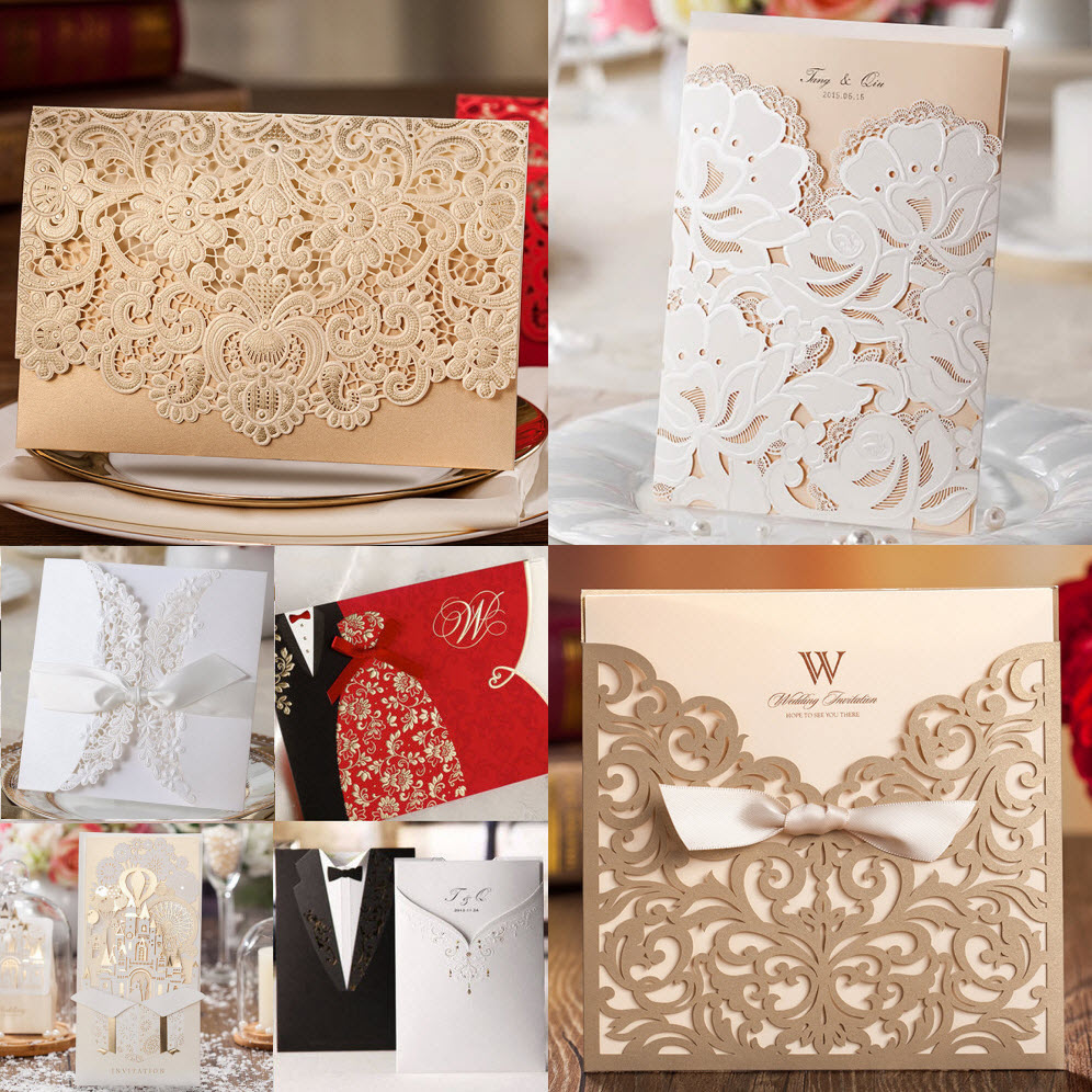 Collection Of Best Ing Business Party Wedding Invitations Cards Favor Gift Candy Bo Samples 2017 New