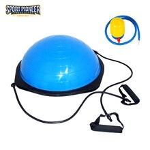 Balance Trainer Bosu Ball Slimming Balance Pilates Ball Gym Ball with Pump