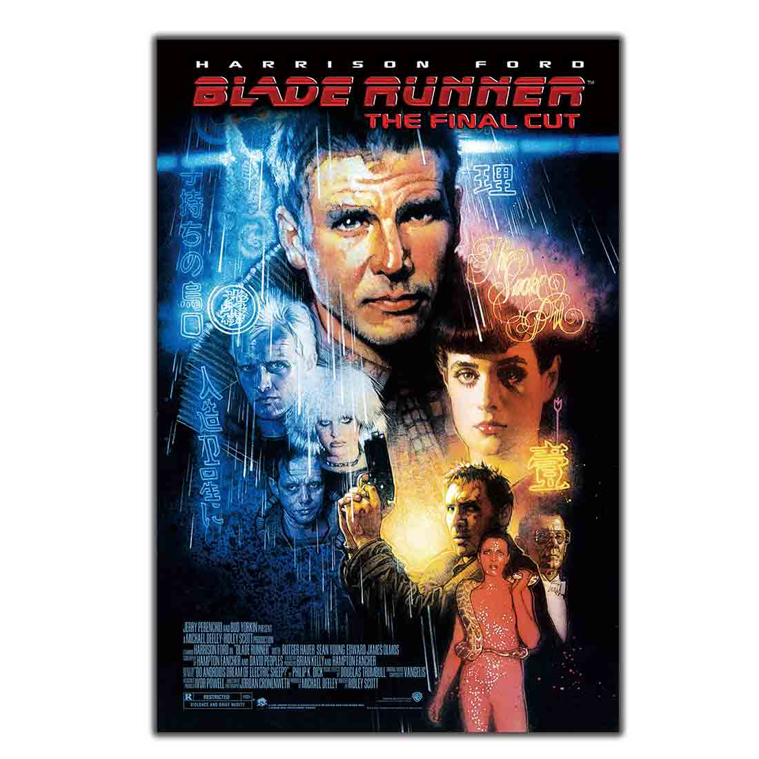 BLADE RUNNER MOVIE harrison FORD sean YOUNG SCI-FI film noir hot Art Poster Print Wall decor8x12 12x18 24x36 decor canvas image