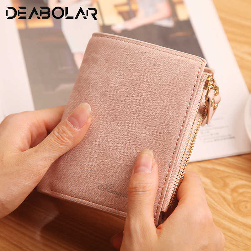 Fashion Top Quality Small Wallet PU Matte Leather Purse Short Female Coin Wallet Zipper Clutch Coin Purse Credit Card