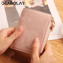 Fashion Top Quality Small Wallet PU Matte Leather Purse Short Female Coin Wallet Zipper Clutch Coin Purse Credit Card(China)