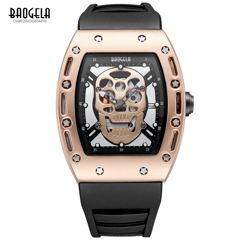 Mens Watch Top Luxury Brand fashion Hollow Clock Male Casual Sport Wristwatch Men Pirate Skull Style Quartz Watch Reloj Homber hot men watches fashion luxury brand hollow clock skull watch male casual sport wristwatch men pirate quartz watch