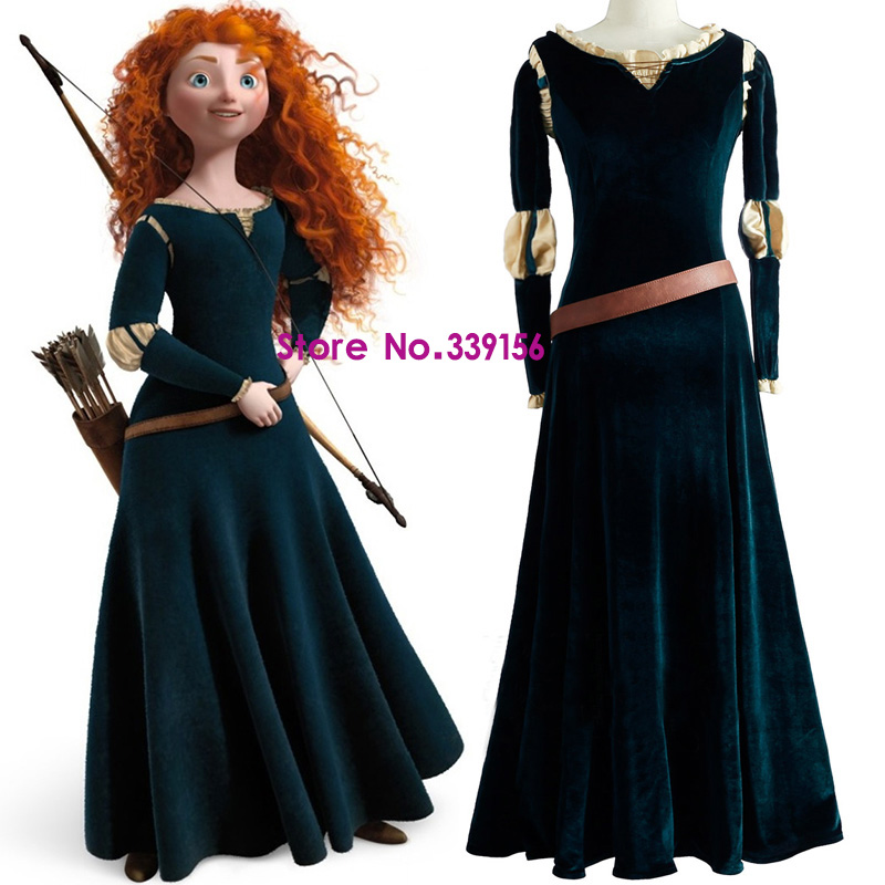 2017 Women Princess Merida Adult Costumes Brave Merida -6324