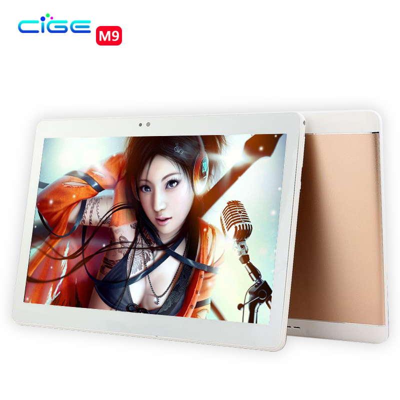 CIGE Newest Tablet PC 10.1 inch 3G 4G Lte Android 6.0 1920*1200 IPS Ocat Core 4GB RAM 64GB ROM 5.0MP Dual SIM Card 10 Smart Kid created x8s 8 ips octa core android 4 4 3g tablet pc w 1gb ram 16gb rom dual sim uk plug