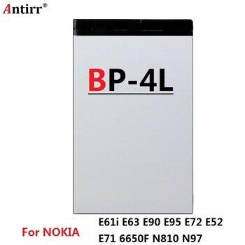 BP-4L batería para Nokia E61i E63 E90 E95 E71 6650 6760 N97 N810 E72 E52 BP4L BP 4L teléfono recarga