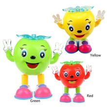 1 PC New Children Kids Baby Toy Small Apple Pattern Light and Sound Educational Toys for Boy Girl Bithday Gifts VBP40