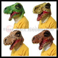 Free Shipping Eco friendly Adult size realistic latex Dinosaur Mask Triceratops Animal Full Head Deluxe Party Animal Dragon Mask
