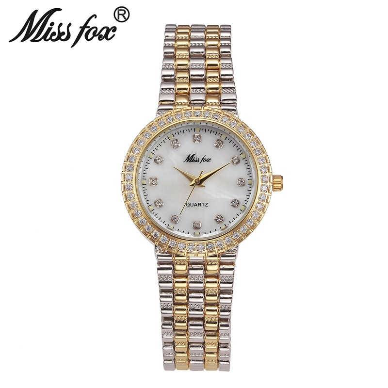MISS FOX Brand Luxury Crystal Gold Watches Women Ladies Quartz Wristwatches Bracelet Relogio Feminino Relojes Mujer Hodinky Saat кольцо bella jewelry 100% 925 sls20171