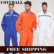 Mens Reflective Workwear Work coverall Repairman Auto Repair Mechanics High Visibility Clothing Overalls Free Post