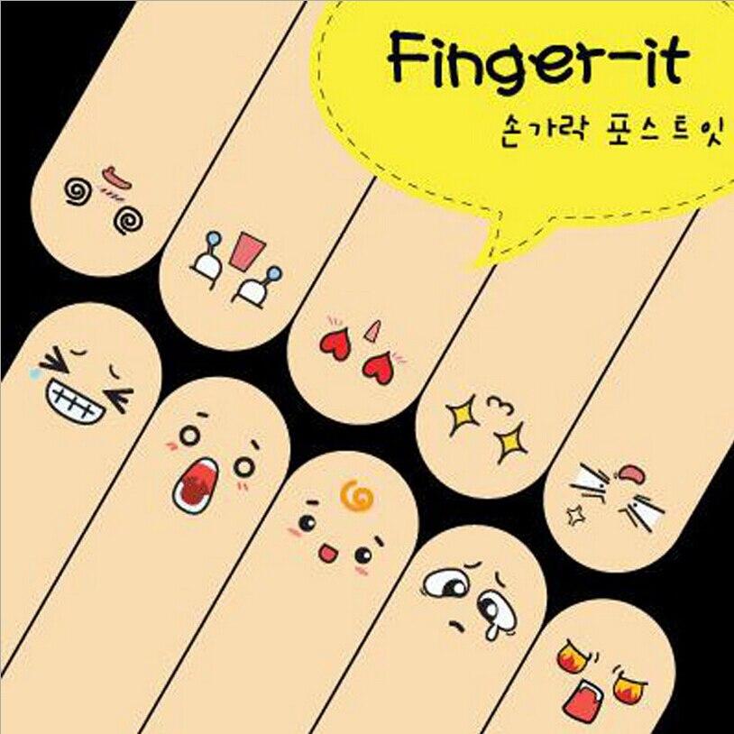 New Style Mini Memo Pads Kawaii Finger Sticky Notes Rilakkuma DIY Post It School Office Stationery Creative Korean Cute Stickers
