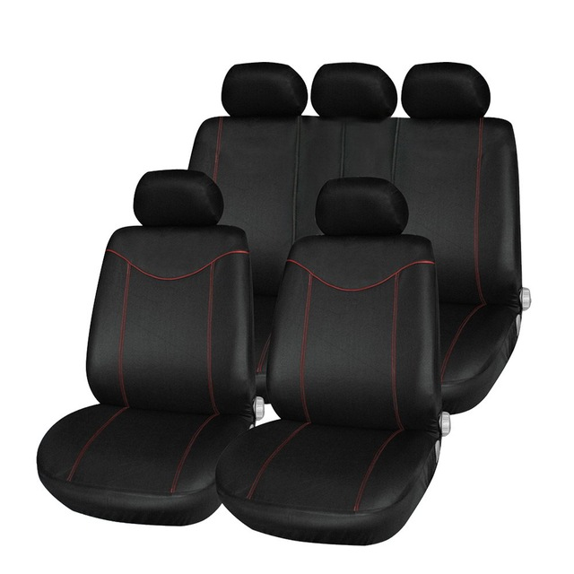 ФОТО Newest Universal Car Seat Cover Set 11Pcs Seat Covers Front Seat Back Seat Headrest Cover Mesh Black and Gray 5 Styles Optional