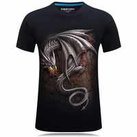 Dragão dracarys 3d t camisa jogo dos tronos impressão casual streetwear camisas dos homens verão topos legal unisex t camiseta masculina
