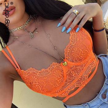 Cryptographic Floral Lace Bralette Bandage Hollow Out Sexy Crop Tops Women Summer Sleeveless Bustier Tops Underwear Streetwear women lace floral hollow underwear tank tops sexy ladies bralette crop tops solid color vest chest padded tank tops