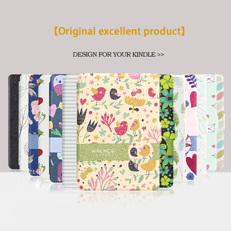 WALNEW Original Thin PU Leather Case for Amazon Kindle Paperwhite Cover 1 2 3 2012 2013 2015 Smart 6 inch E-book Auto Sleep/Wake kindle paperwhite 1 2 3 case e book cover tpu rear shell pu leather smart case for amazon kindle paperwhite 3 cover 6 stylus