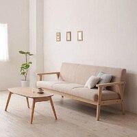 Простой съемный маленький диван, небольшой одноместный диван из массива дерева, мебель