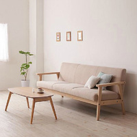 Simple Detachable Small Sofa Small Single Solid Wood Sofa Combination Furniture