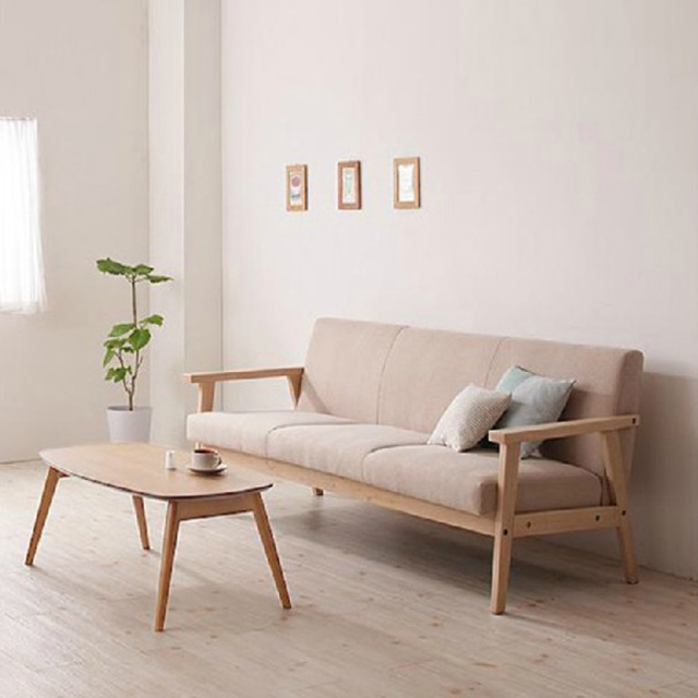Simple detachable small sofa small single solid wood sofa for Sofa cama pequeno conforama