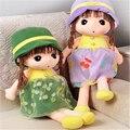 1 pcs 45 cm Bonito Menina Boneca de Pelúcia Tamanho Mini Boneca Crianças Os Amantes de Presente de Aniversário de pelúcia Brinquedo Macio para Crianças Rosa Cor A32