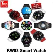 Ограниченное предложение Оригинальный KW88 электроники 3G WCDMA WI-FI 1.39 «SmartWatch сотовый телефон все-в-одном сердечного ритма Мониторы Android 5.1 OS Смарт-часы