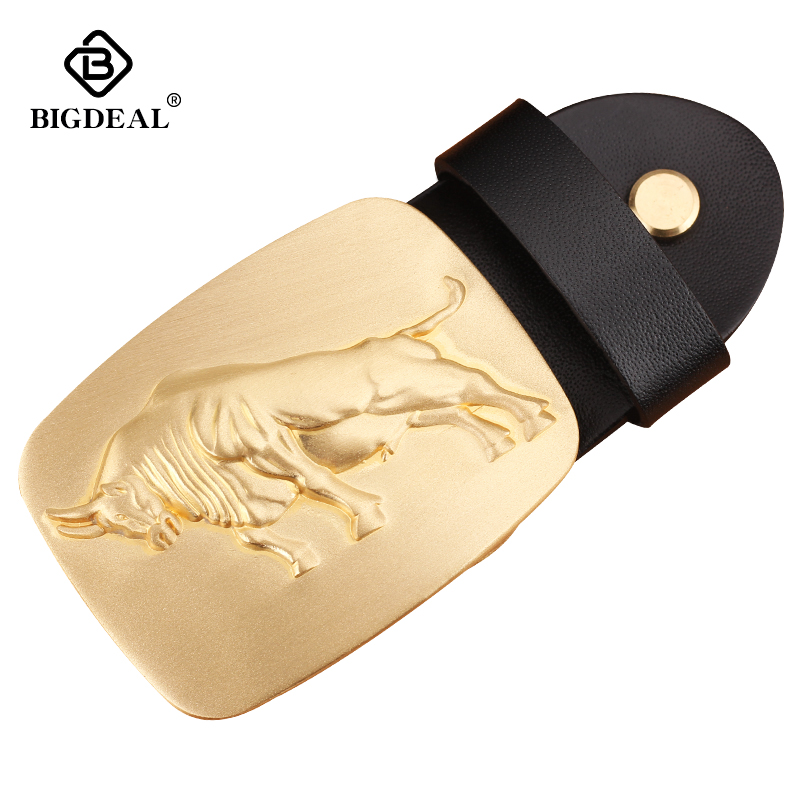 Brass Belt Buckle For Men Without Body High Quality Solid Brass Designers Fashion Male Brand Luxury Suitable Width 3.8CM Leather