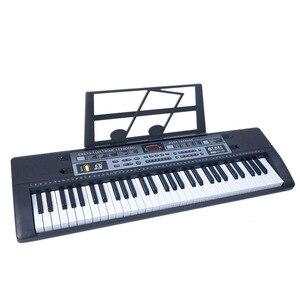 Горячая продажа 61 клавиша Детская Цифровая музыка электронная клавиатура клавишная доска электрическое пианино с подставкой и микрофоном ...