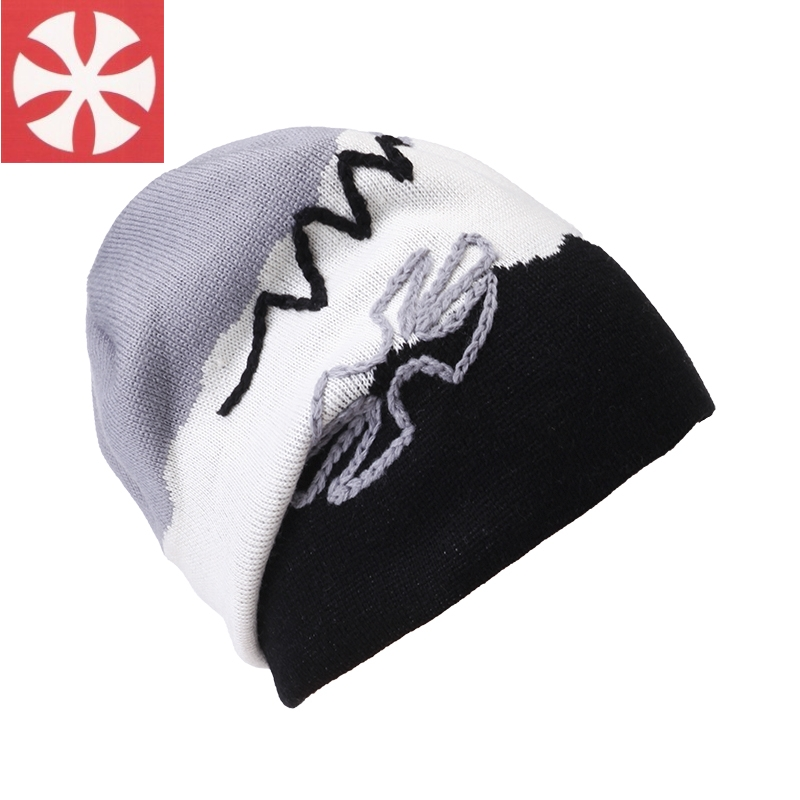 CaiZhongHai / B31 Wool Embroidery Thick Reversible Winter Hats For Women Men Beanie Knit Hats Warm Skullies Beanie Caps 2016 fashin reversible skullies