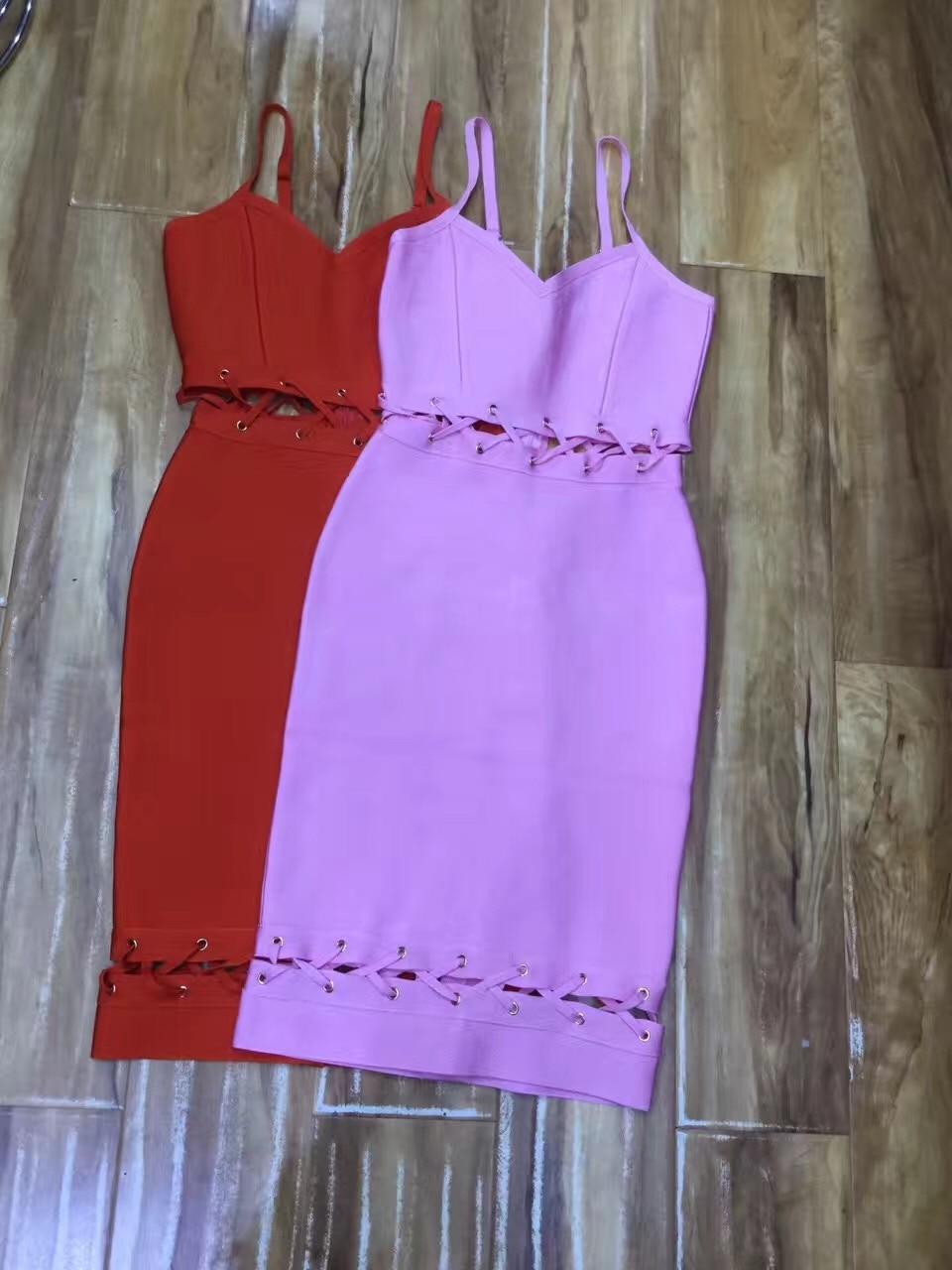 Courroie Sexy Party Rouge De Haute Lavande Spaghetti 2017 D'été Qualité Femmes Out Creux Robes Bandage Robe SUzGpMVLq