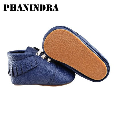 New kids Shoes lace-up rubber sole Baby Moccasins Shoes pu Leather baby boys sneaker first walker chaussure bebe