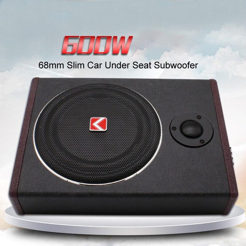 8 pouce 600 w sous le siège Subwoofer Super Bass Voiture Audio Haut-Parleur actif Woofer Amplificateur Intégré Audio De Voiture Tweeter Haut-Parleur
