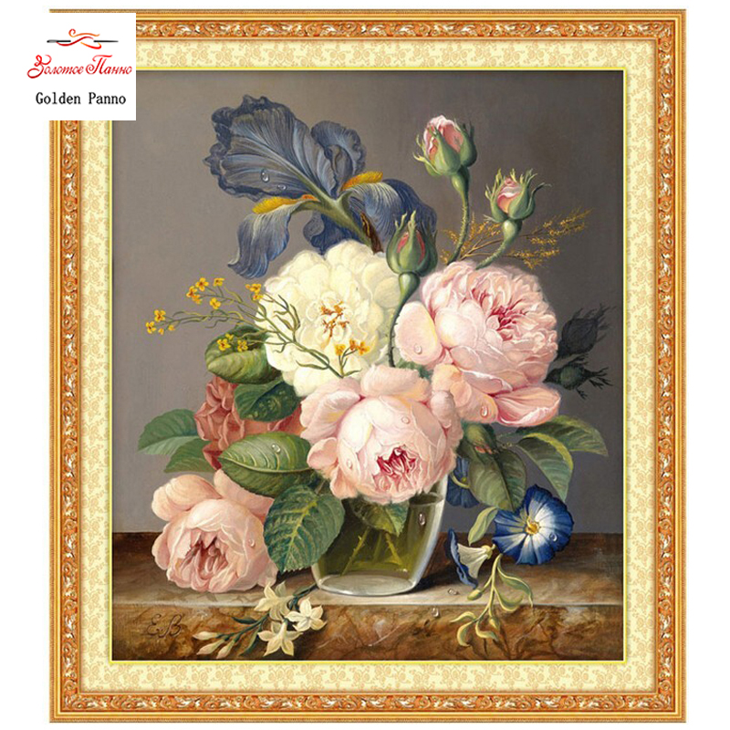 Needlework, DIY DMC Cross Stitch, sett for broderi sett, nyttår blomster dekor, cross-stitching, julen engros cross-stitch