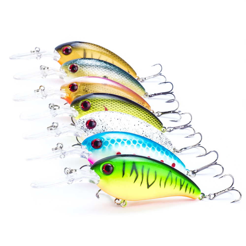 SEALURER Brand 7pcs Fishing Lure wobbler sveiv fiske lokke 10cm / 14g crankbait Float jerkbait swimbait shad agn